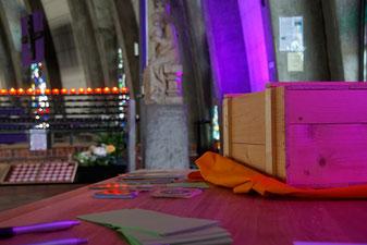Gebetsbox in der Pfarrkirche St. Pius/Ingolstadt. pde-Foto: Martin Geistbeck
