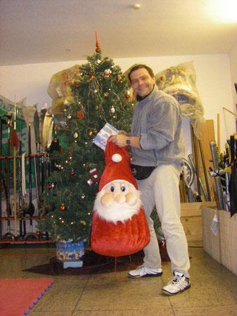 Weihnachten in der Jing Wu Schule Köln, Kung Fu Training
