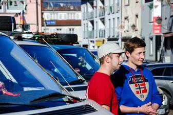 Alexander Gössel und Sebastian Starke vor der Abfahrt im Februar 2014