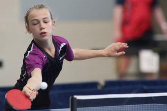 Paula Lübke führte die Mädchenmannschaft zum knappen Sieg!