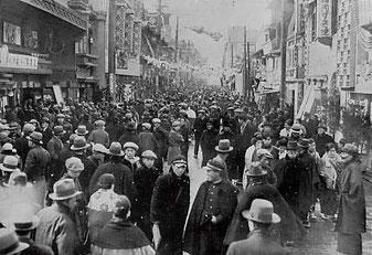 1930年頃の道頓堀(写真提供:道頓堀商店会)