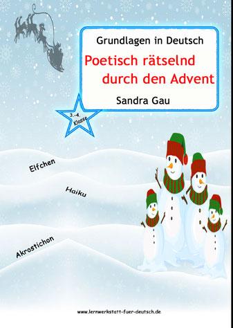 Haiku Weihnachten, weihnachtliches Haiku Beispiel, Haiku schreiben, Aufbau Haiku, Silbentrennung üben, Silbenlesen üben