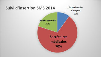 Graphique insertion professionnelle SMS 2014