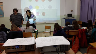 During a french lesson with kids
