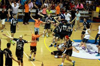 Los Changos celebran su campeonato / foto por Heriberto Rosario Rosa
