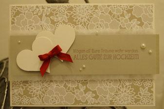 Glückwunschkarte zur Hochzeit - Stampin´Up! 2015