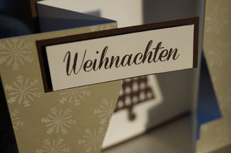 Anleitung Klappkarte mit Tannenbaumstanze von Stampin´Up! Patricia Stich