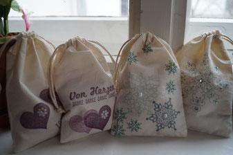 Bestempelte Baumwollsäckchen