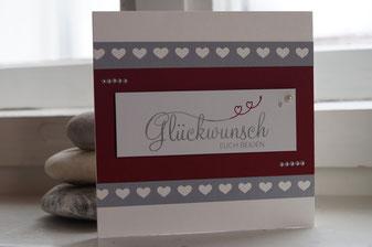 Hochzeitskarte Stampin´Up!