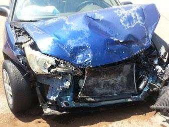 Verkehrsunfall im Urlaub