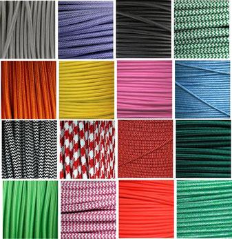 Textilkabel in allen Längen und in vielen Farben günstig vom Lampen Großhandel.