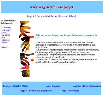 Projet du collectif Majuscrit - Des livres gratuits pour tous pour la paix et l'ouverture d'esprit.