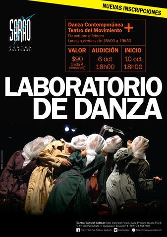 Laboratorio de Danza. Afiche Eduardo Correa.