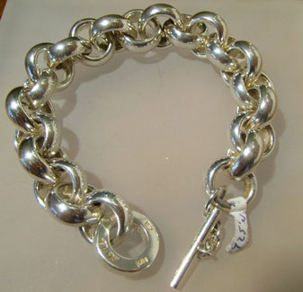 Erbskettenarmband, Armband, Erbskette, Schmuck, Silber, Sterlingsilber