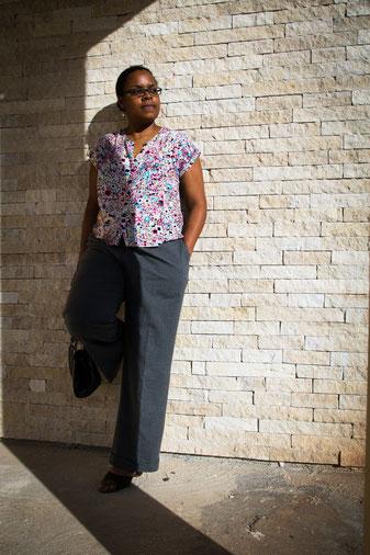 pantalon large HS modes et travaux/ top maya, les cousettes