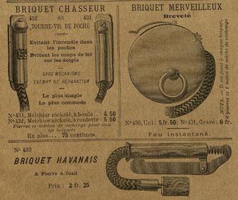Extrait du catalogue A. Dubois de Laval de 1890