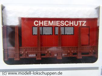 Märklin 00752-05 Rungenwagen DB mit  Feuerwehr Container Chemieschutz