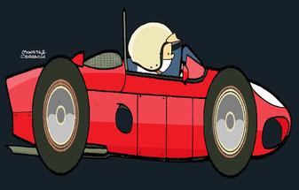Ludovico Scarfiotti con su Ferrari 156 by Muneta & Cerracín
