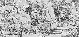 Darstellung des historischen Bergbaus