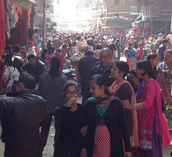 Kathmandu Basar Einkaufen Straße