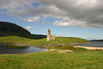 Ardveck castle Highlands of Scotland