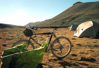 der letzte Lagerplatz in Tibet