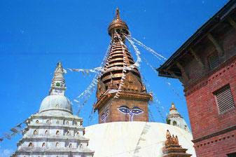 Swayambhunath - auch Tempel der Affen genannt