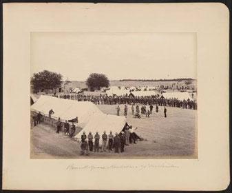 چهار راه بارک، لوای ۷۸ هایلندرز ۱۸۸۰ عکاسی سر بنیامین سیمپسون. نشنل وار موزیم