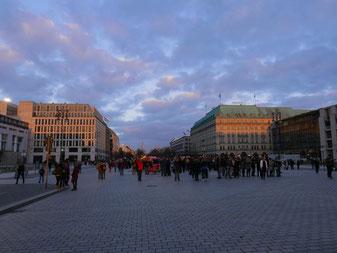 Touristenströme zum Reichstag