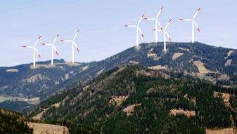 Fotomontage zum geplanten Kraftwerksstandort auf dem Kraubatheck (Foto: Arbeitskreis Kraubatheck)