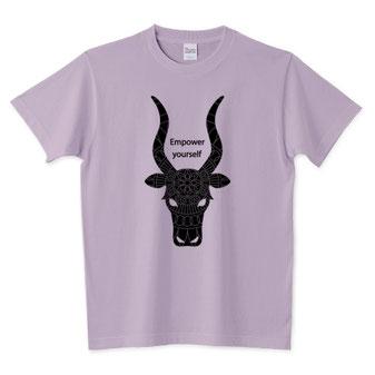 神々しい牛イラストと曼荼羅Tシャツかっこいいデザインおしゃれ