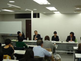 左から井出真理さん、小宮山佳典さん、中澤香織さん、吉村ゆうさん