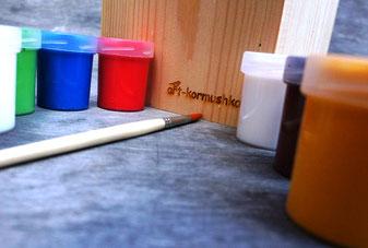 Купить скворечник для росписи с красками в Москве.
