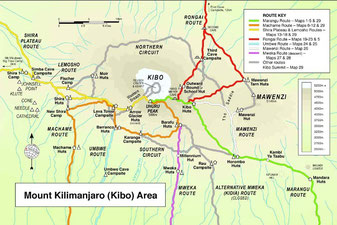Kilimanjaro National Park Map