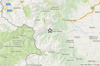 Mappa di localizzazione dell'epicentro
