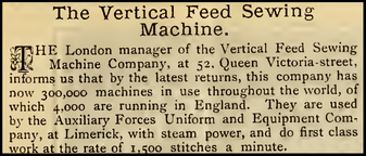 300.000 machines in use ............................. March 1885
