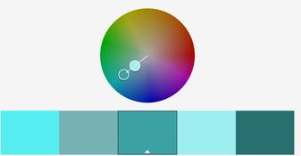 Farbkreis monochromatisch