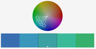 Farbkreis ähnliche Farben