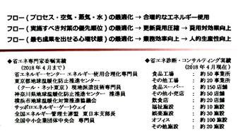 姫井さんの名刺・裏面には、実績が数多く記載されている
