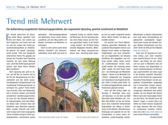 Bericht über Onkel Edison in der Wirtschaftsbeilage der Süddeutschen Zeitung