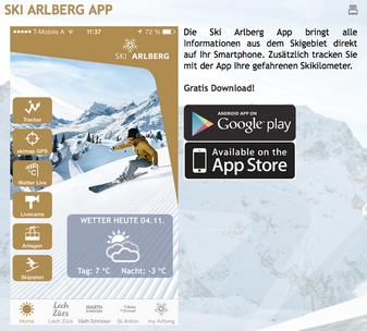 Die Ski Arlberg App