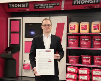 """Die PCI Augsburg GmbH ist """"Digital Champion"""" der Bauchemiebranche. Marc C. Köppe, Vorsitzender der Geschäftsführung der PCI Gruppe, freut sich über das Deutschlandtest-Siegel von Focus Money."""