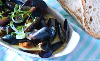 moules a la creme cozze Normandia Francia molluschi burro cipolla vino ricetta tipica