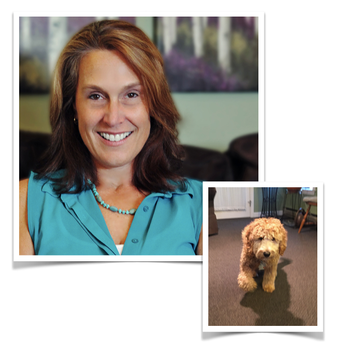 Nannette & Mazie (therapy dog in training)