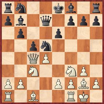 Mauelshagen - Rahimi, R: Weiß hätte hier schon mit 10.Se5! die Weichen früh auf Sieg stellen können