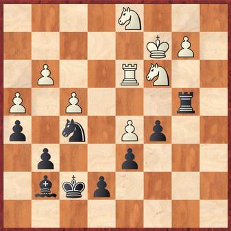 Siebel - Gottas: Schwarz gewann hier entscheidendes Material mit 29. ... c4!