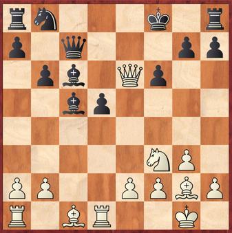 Mauelshagen - Rahimi, R: Aus der großen Auswahl von Gewinnzügen wählte Martin hier 16.Lf4!? nur um nach Dd7 die beste Fortsetzung 17.Sd4! zu verpassen.