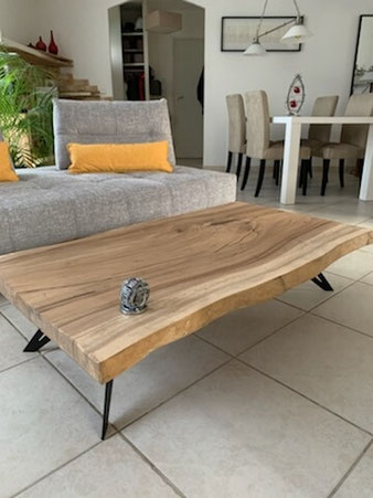Pied de table basse DIY en bois de suar