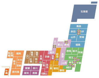 全国競馬場漫遊記 日本地図