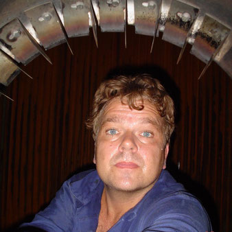 Robert van Rooij, in 2004, inspecting a steam boiler.